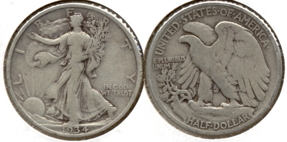 1934 Walking Liberty Half Dollar Fine-12