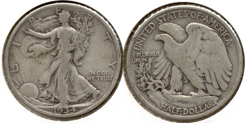 1934 Walking Liberty Half Dollar Fine-12 i