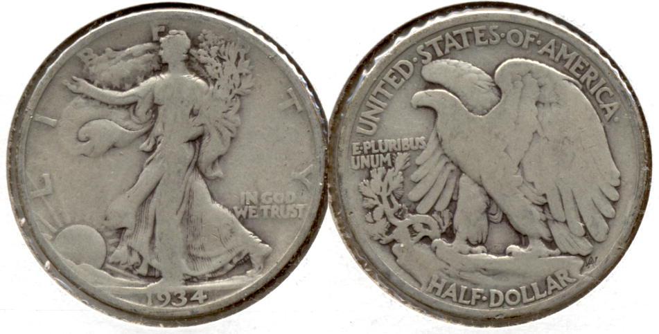 1934 Walking Liberty Half Dollar Good-4 c