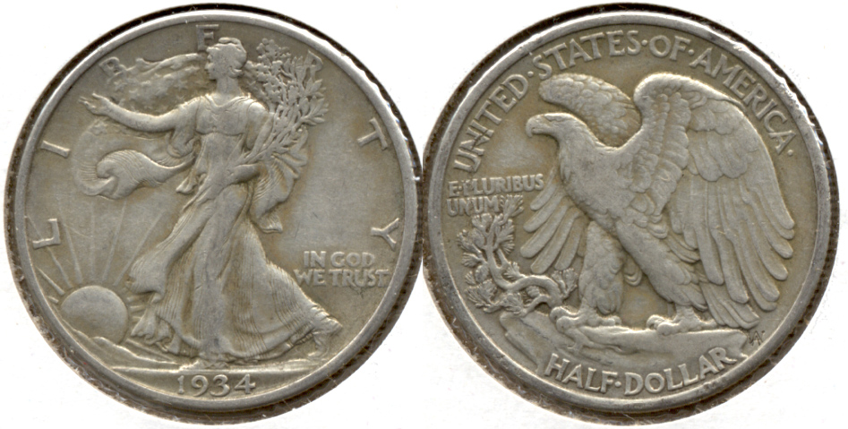 1934 Walking Liberty Half Dollar VF-20 i