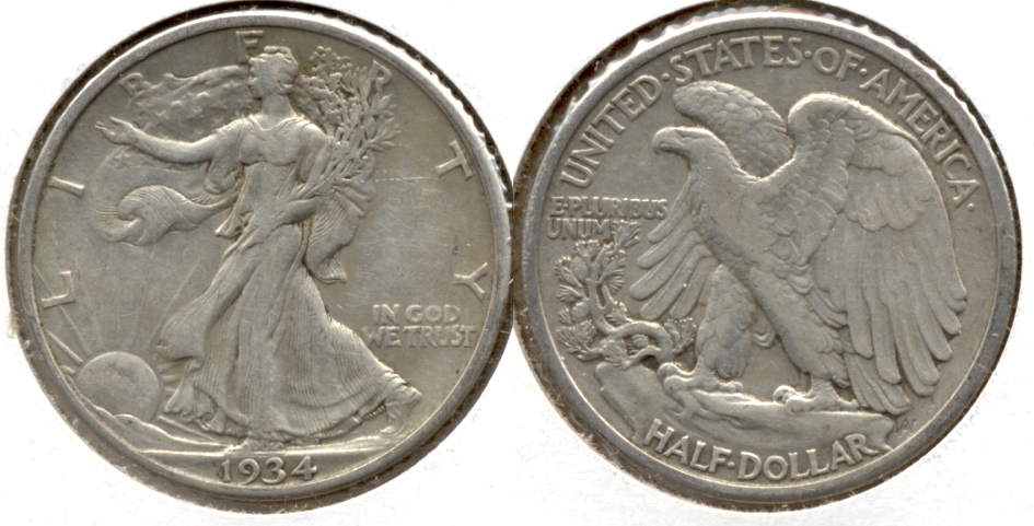 1934 Walking Liberty Half Dollar VF-30