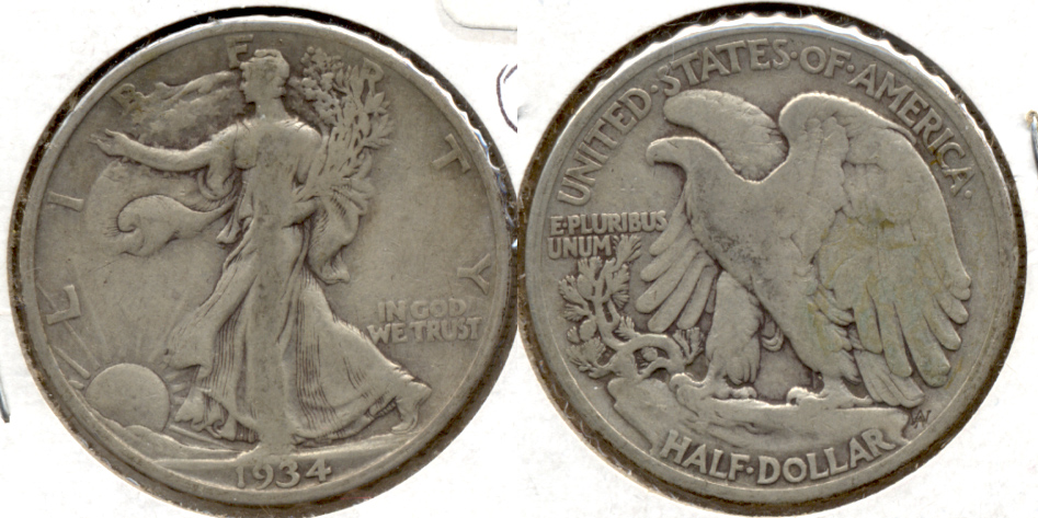 1934 Walking Liberty Half Dollar VG-8 i