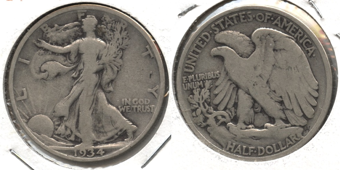 1934 Walking Liberty Half Dollar VG-8 #q