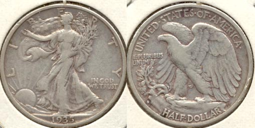 1935-S Walking Liberty Half Dollar VF-20