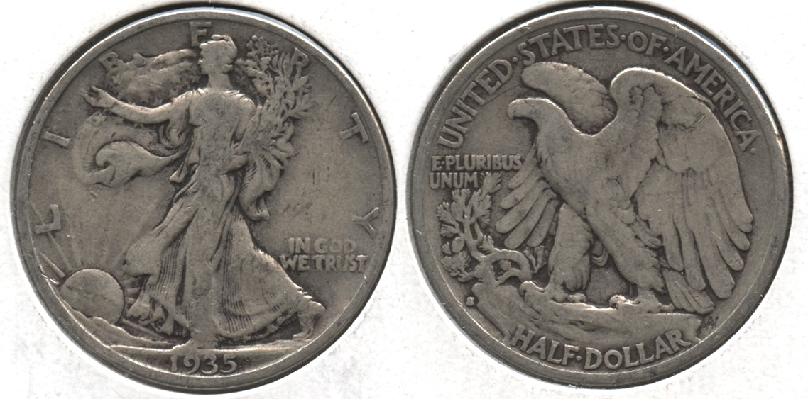 1935-S Walking Liberty Half Dollar VG-8 #c