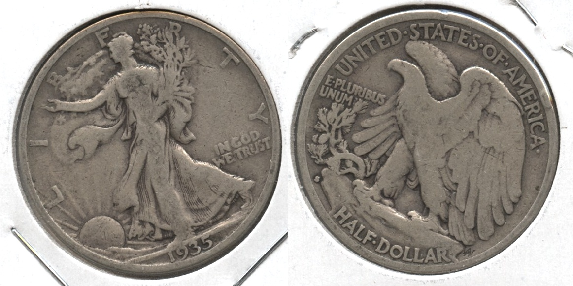 1935-S Walking Liberty Half Dollar VG-8 #q