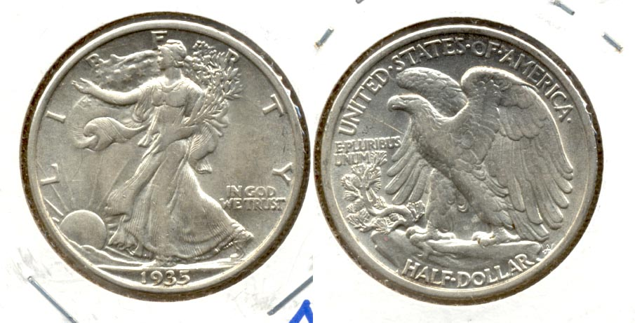 1935 Walking Liberty Half Dollar AU-50 e