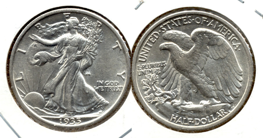 1935 Walking Liberty Half Dollar AU-53 a