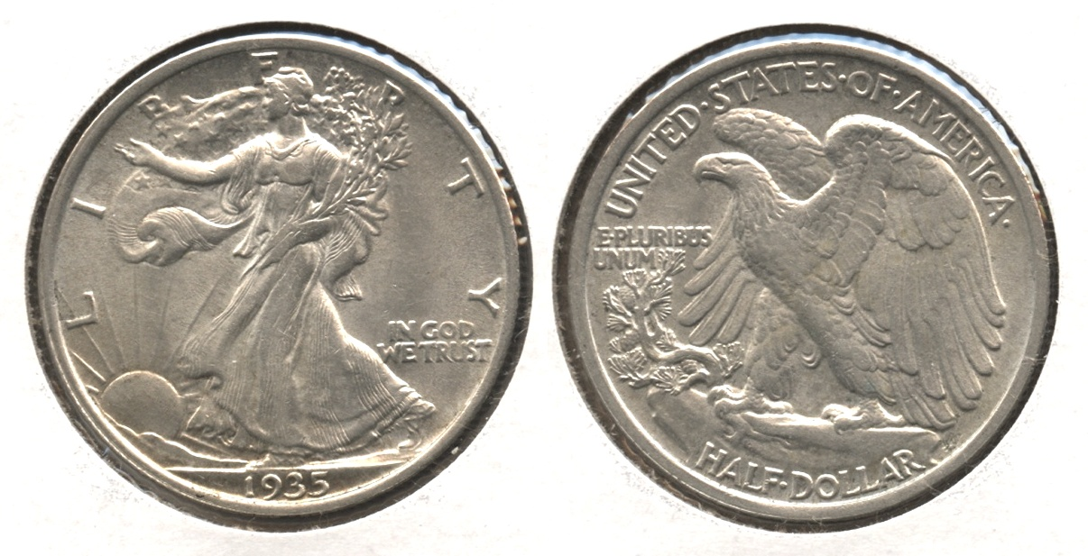1935 Walking Liberty Half Dollar AU-58 #a