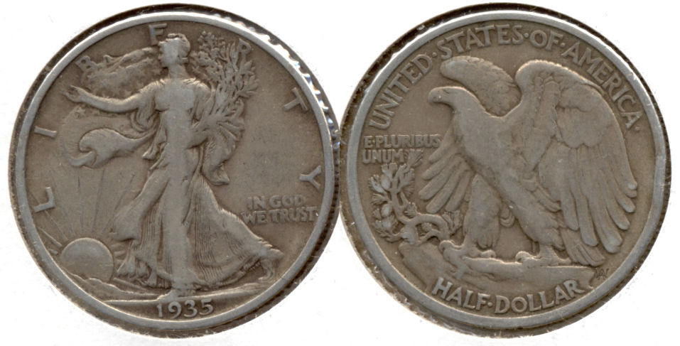 1935 Walking Liberty Half Dollar Fine-12 h