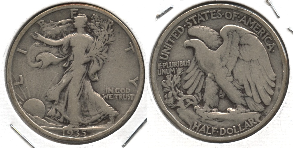 1935 Walking Liberty Half Dollar VG-8 #ad