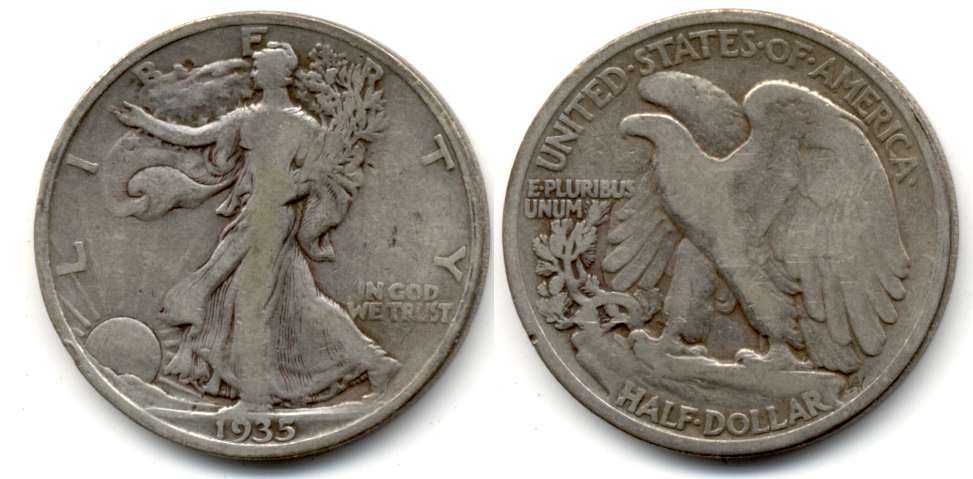 1935 Walking Liberty Half Dollar VG-8 g
