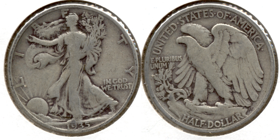1935 Walking Liberty Half Dollar VG-8 q