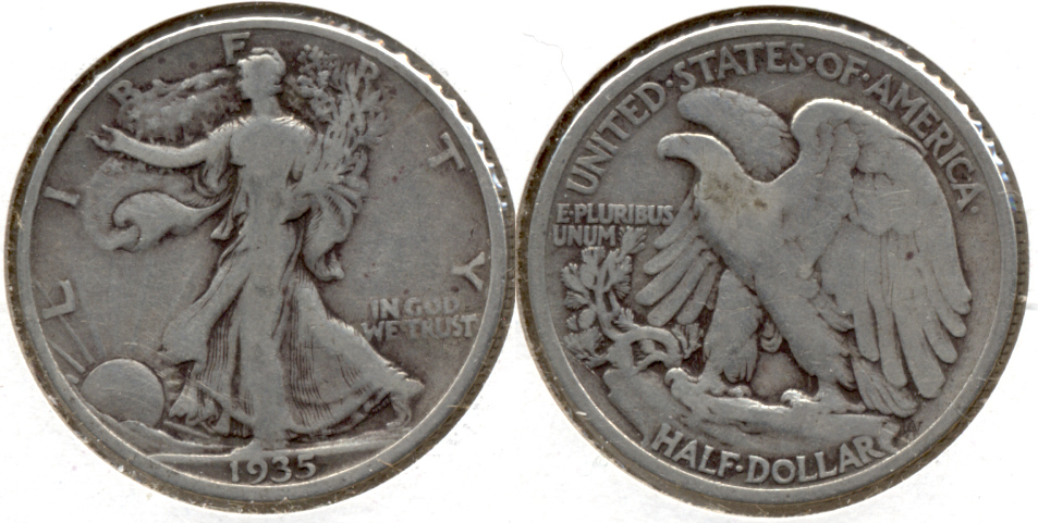 1935 Walking Liberty Half Dollar VG-8 s