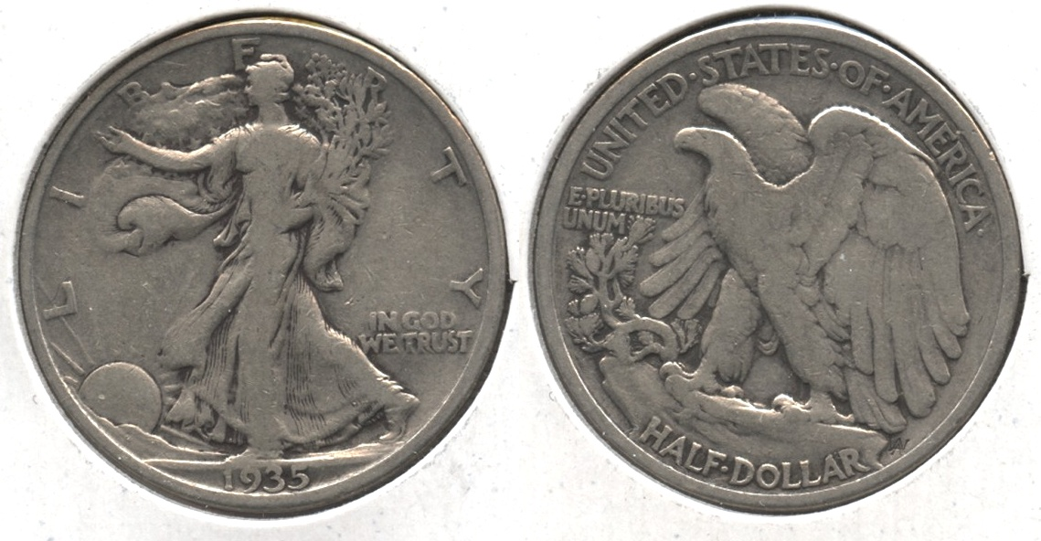 1935 Walking Liberty Half Dollar VG-8 #z