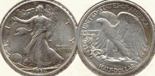 1936-S Walking Liberty Half Dollar EF-40