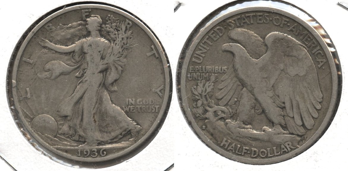 1936-S Walking Liberty Half Dollar VG-8 #d