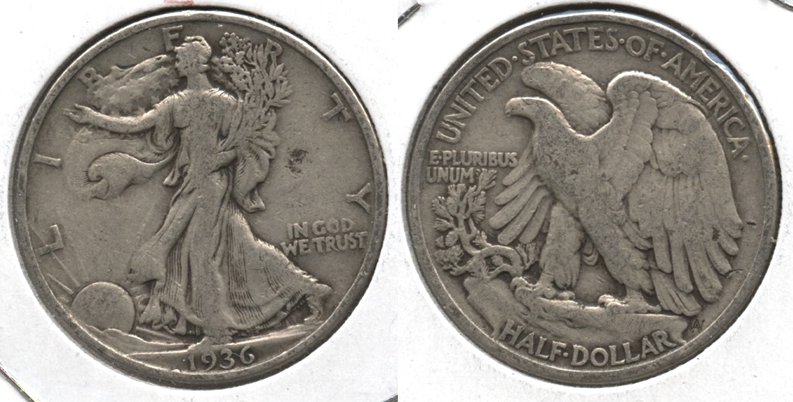 1936 Walking Liberty Half Dollar Fine-12 #aa