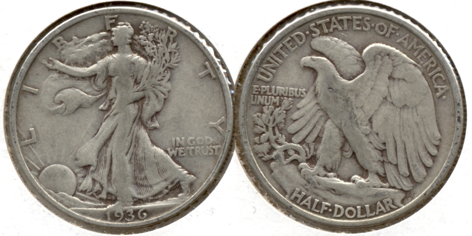 1936 Walking Liberty Half Dollar Fine-12 s