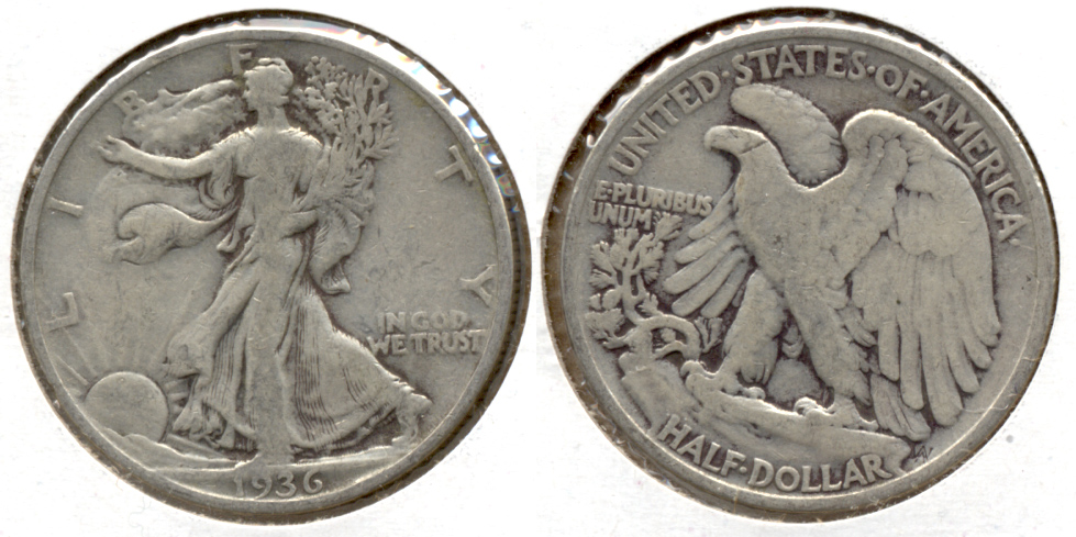 1936 Walking Liberty Half Dollar VG-10