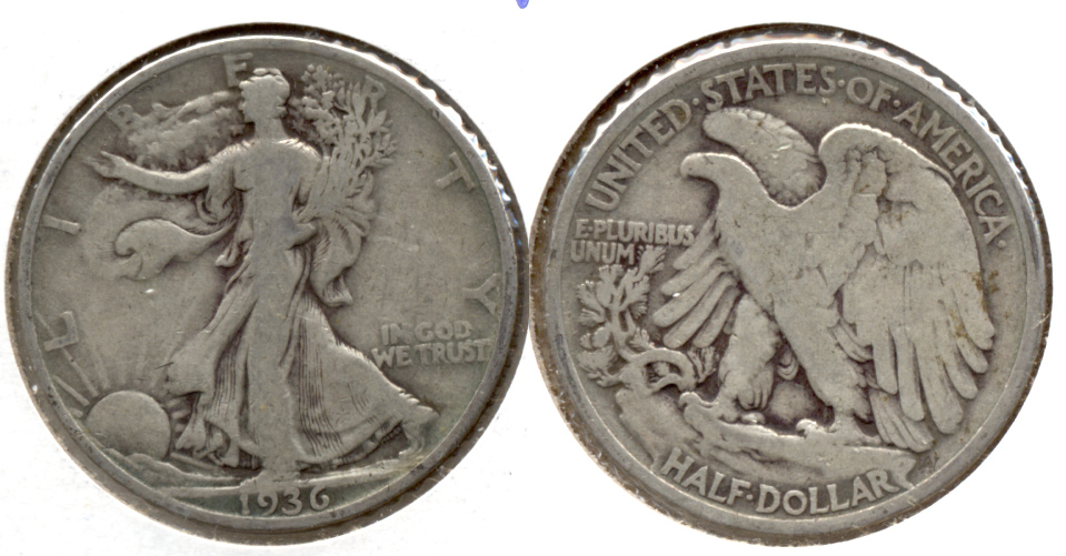 1936 Walking Liberty Half Dollar VG-8