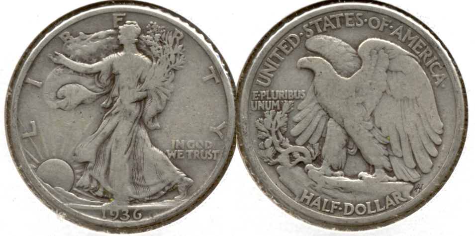 1936 Walking Liberty Half Dollar VG-8 s
