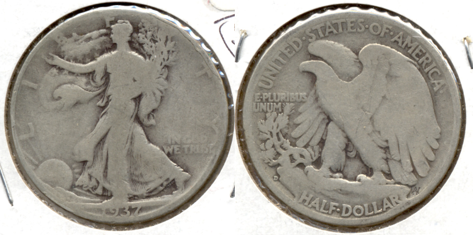 1937-D Walking Liberty Half Dollar Good-4 a