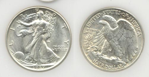 1937-D Walking Liberty Half Dollar MS-60