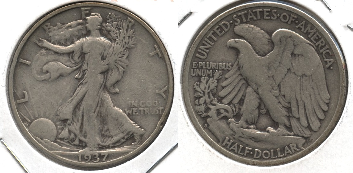 1937-S Walking Liberty Half Dollar Fine-12 #g