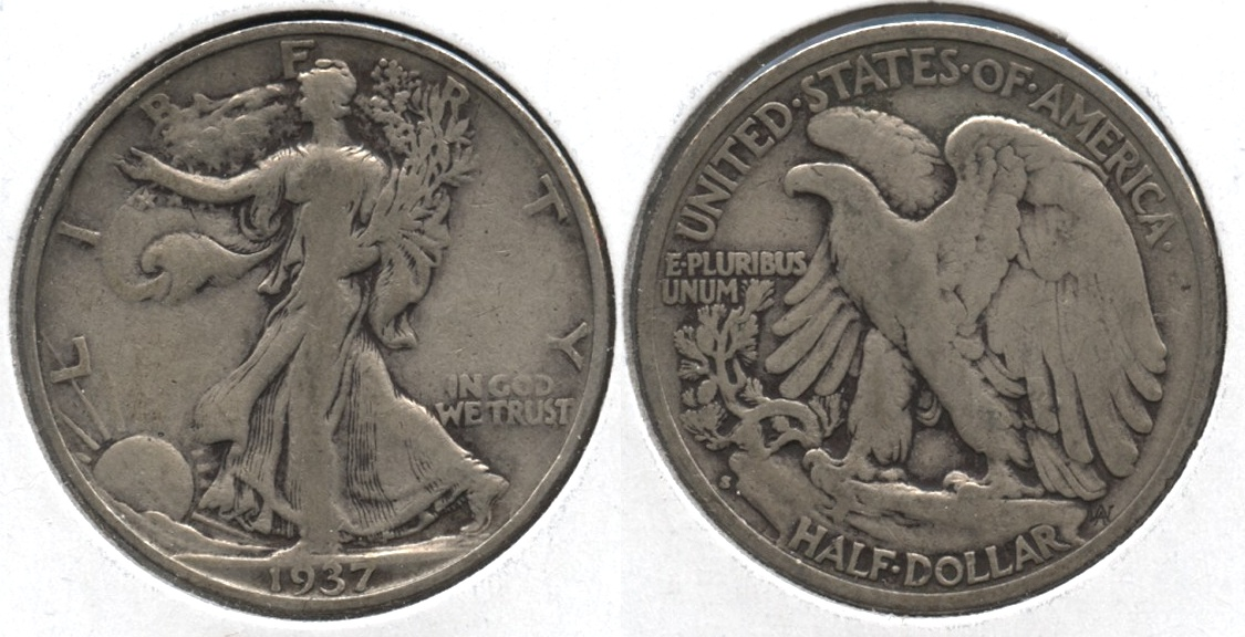 1937-S Walking Liberty Half Dollar VG-8 #b