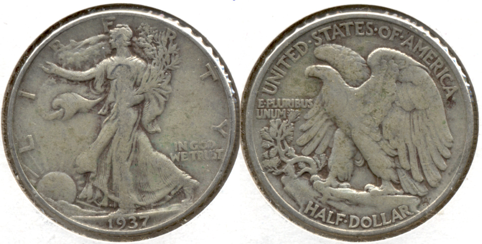 1937 Walking Liberty Half Dollar Fine-12 g