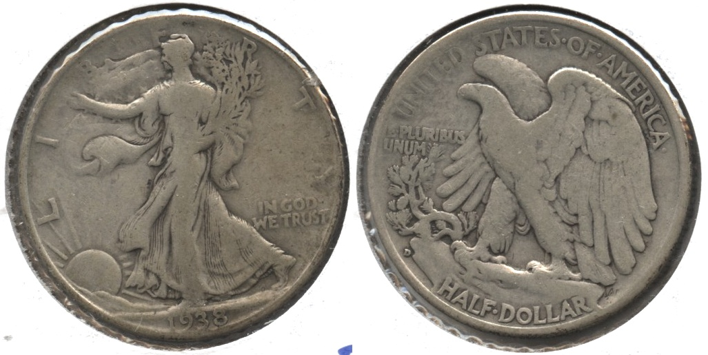 1938-D Walking Liberty Half Dollar Fine-12 #l