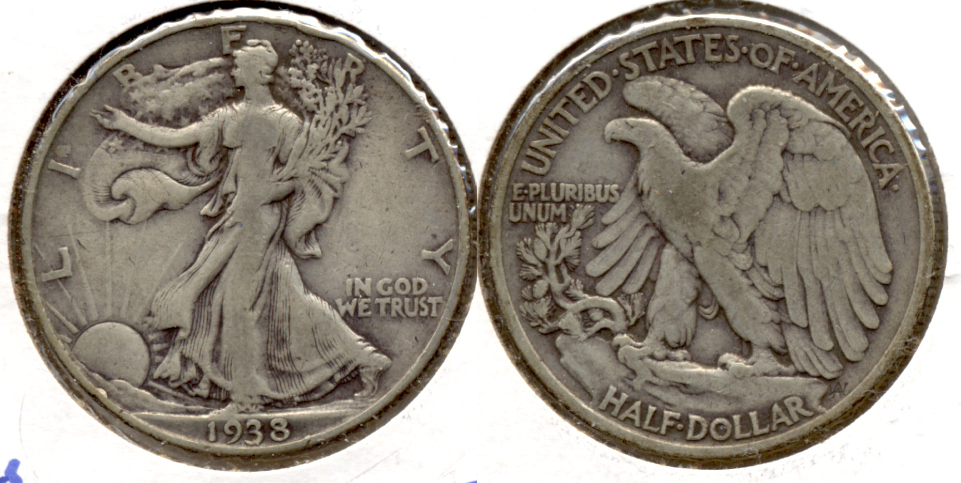 1938 Walking Liberty Half Dollar Fine-12 a