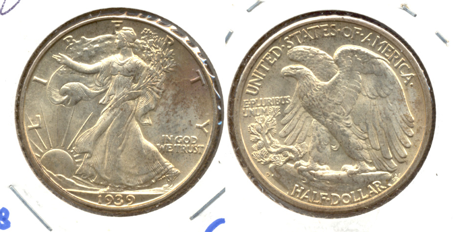 1939-D Walking Liberty Half Dollar MS-63 b