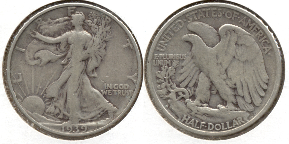 1939-S Walking Liberty Half Dollar Fine-12 z