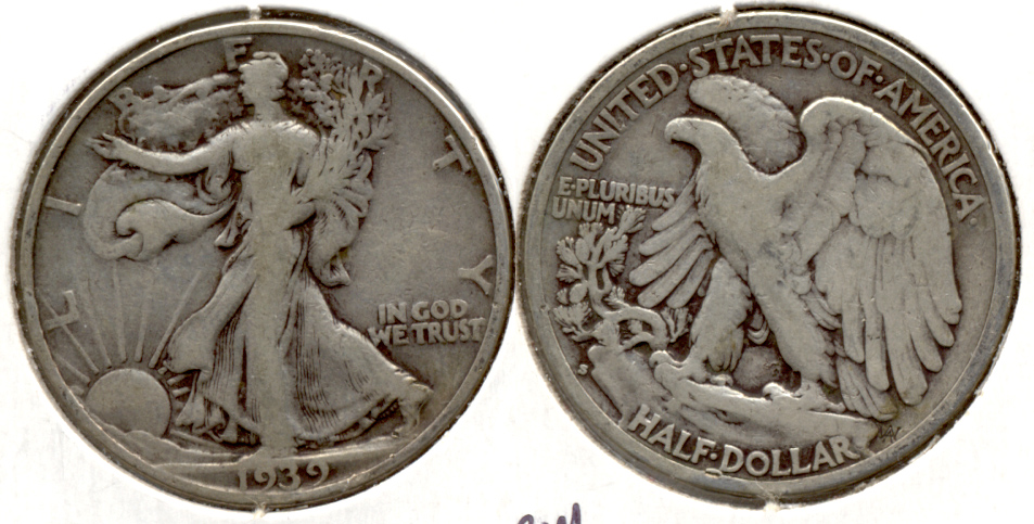 1939-S Walking Liberty Half Dollar VG-8 g
