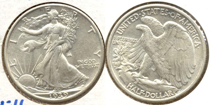 1939 Walking Liberty Half Dollar AU-50 a