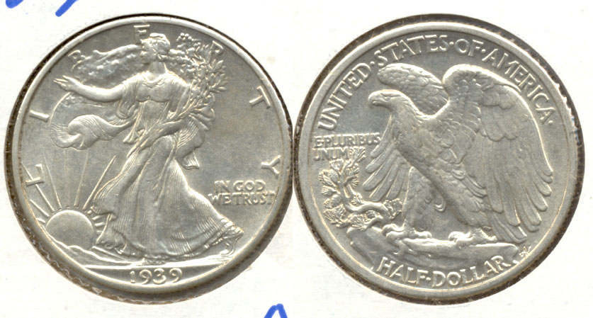 1939 Walking Liberty Half Dollar AU-50 e