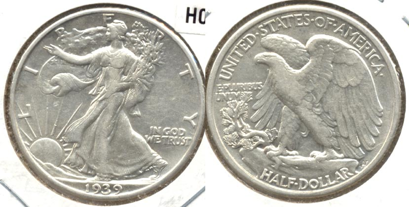 1939 Walking Liberty Half Dollar AU-50 h