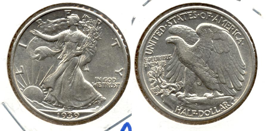 1939 Walking Liberty Half Dollar AU-53