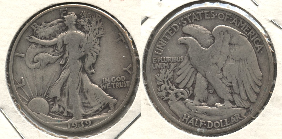 1939 Walking Liberty Half Dollar Fine-12 #o