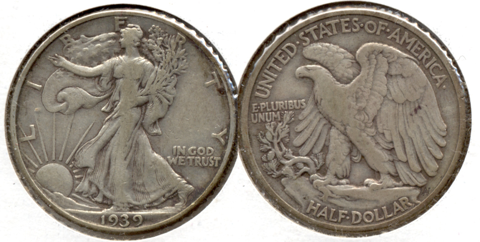 1939 Walking Liberty Half Dollar Fine-15 c