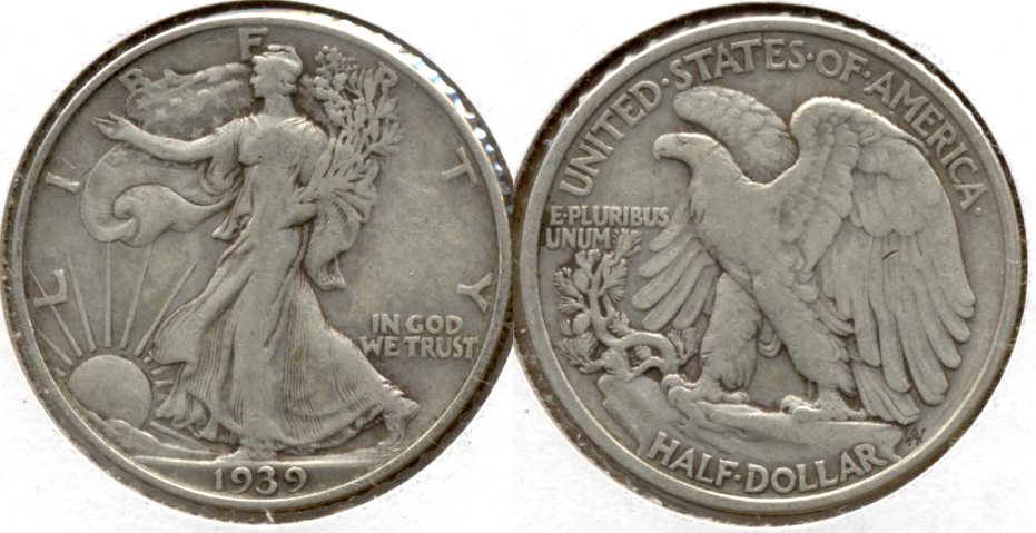 1939 Walking Liberty Half Dollar Fine-15 d