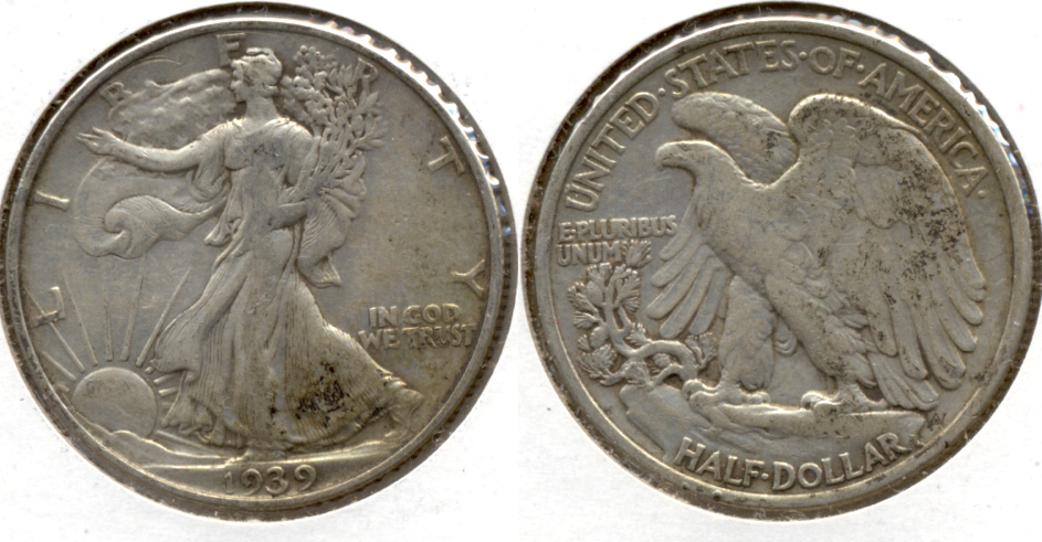 1939 Walking Liberty Half Dollar VF-20