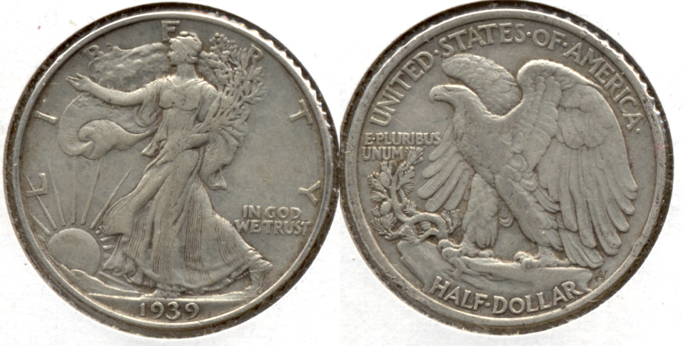 1939 Walking Liberty Half Dollar VF-20 c