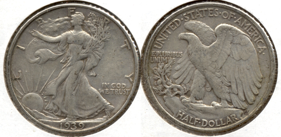 1939 Walking Liberty Half Dollar VF-20 j
