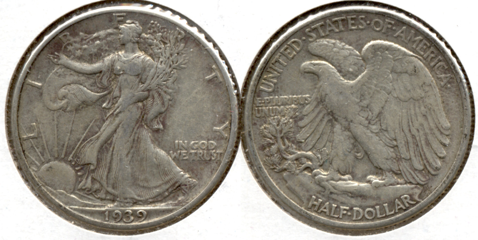 1939 Walking Liberty Half Dollar VF-30 c