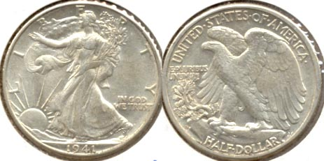 1941-D Walking Liberty Half Dollar AU-50 a