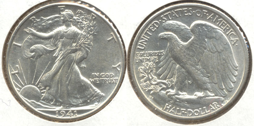 1941-D Walking Liberty Half Dollar MS-60