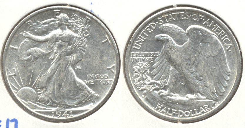 1941-S Walking Liberty Half Dollar AU-50 a